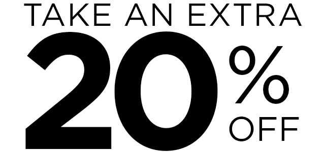 Take an Extra 20 Percent OFF