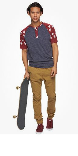 Guys Surf And Skate Look