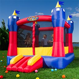 bounce houses and ball pits