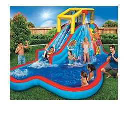water slides and pool toys