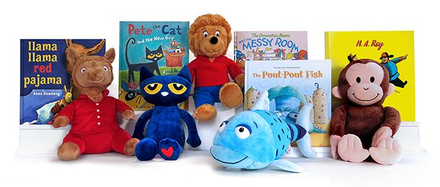 Kohl's cares fall collection: Llama Llama Red Pajama, Pete the Cat, Pout Pout Fish, Curious George