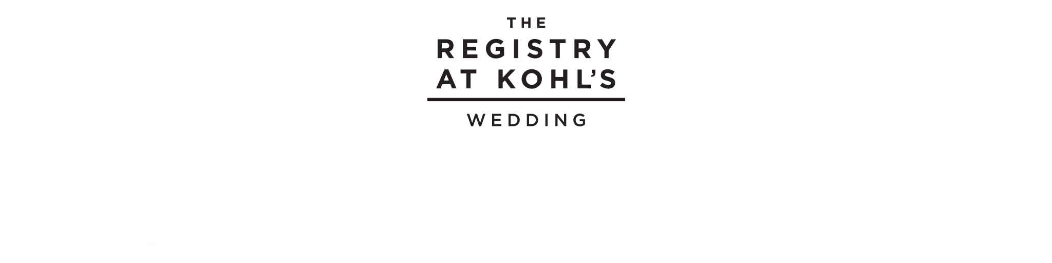 The Wedding Registry at Kohl's