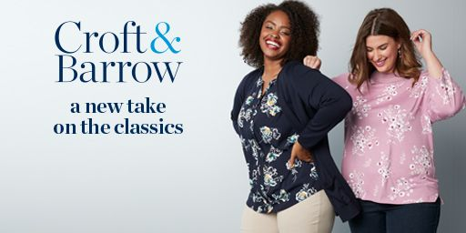 women's plus-size croft and barrow clothing