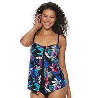 f32fae70897 woman in multi-colored swimsuit