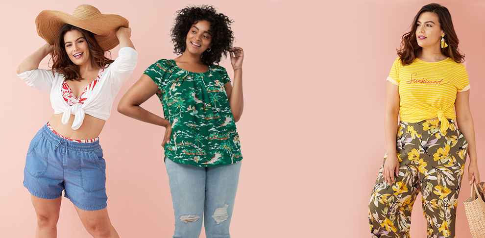 5b6bcc2a9b4c6 Plus Size Clothing: Shop Plus Size Clothes | Kohl's